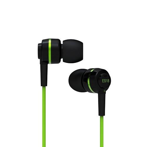 harga SOUNDMAGIC In Ear Monitor ES18 - Black Green Bhinneka.Com
